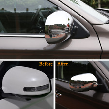 For MITSUBISHI OUTLANDER 2013-2017  Chrome Side Mirror Cover Trim Molding Cap 2x