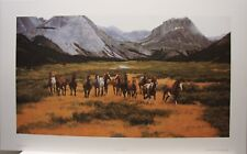 "Kim Penner ""Gods Country"" LTD art print mint COA Horses in the Rockies A.P."