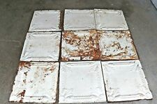 """Vintage Early 1900's 24x24"""" Tin Ceiling Tile lot of 9"""
