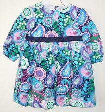 New In Bag Kelly's Kids Alice Navy Paisley Poplin Dress Girl's Size 4-5