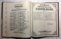 1800s Russian Antique Book Notes Collection Music Store Stamp Royal Russia