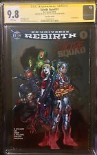 Suicide Squad NYCC Foil Variant CGC 9.8 SS Signed By Jim Lee & Alex Sinclair