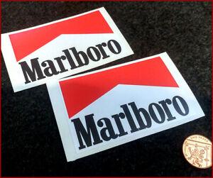 Marlboro Racing x2 100mm Sticker Car Vinyl Graphic Drift Vinyl Vintage Retro