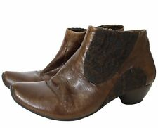 Think Women Shoes Size-37.5 uk-4.5 Leather Pumps Ankle Boots used