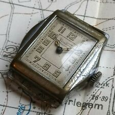 LARGE WW2 BRITISH ARMY PILOT TRENCH WATCH, MILITARY ANTIQUE VINTAGE WRISTWATCH