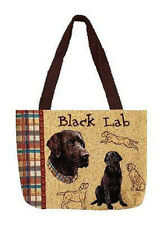 Black Lab ~ Labrador Retriever Raining Dogs Tapestry Tote Bag