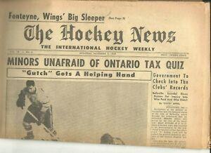 1959 The Hockey News 1/2/59 NHL AHL EHL Leafs F Mahovlich Habs M Rocket Richard
