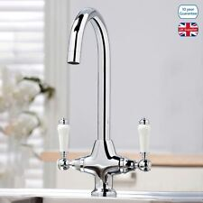 SOPHIA TRADITIONAL SWIVEL TWIN LEVER KITCHEN SINK MONO MIXER TAP