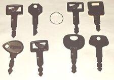 8 keys Excavator tractor keys case  jcb case jcb Bosch cat hitachi takeuchi Jd