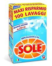 Sole Bianco Solare Ultra Detersivo Polvere 100 Lavaggi Bucato a Mano e Lavatrice
