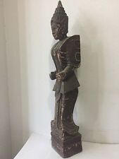 Antique Burmese wood carved Nat spirit angle statue