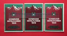3 x Schweizer Hotelführer 1928/29/30 Schweizer Hotelier Verein Basel ( F18403