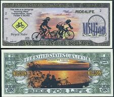 Bicycling Million Bike For Life Dollar Bill Collectible Funny Money Novelty Note