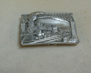 "BERGAMONT BRASS WORKS   Belt Buckle ""Steam Locomotive"""