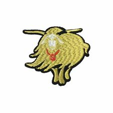Shiny Gold Buffalo (Iron On) Embroidery Applique Patch Sew Iron Badge
