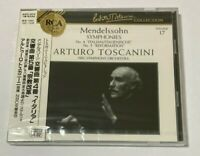 Arturo Toscanini SEALED BRAND NEW CD Mendelssohn Sym.No.4&5 Italian Japan Obi
