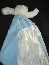 Blankets & Beyond White Puppy Dog Blue Velour Security Blanket Lovey Large