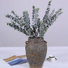 Artificial Fake Silk Flower Eucalyptus Plant Green Leaves Hotel Home Decor Healt