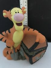 Tigger Bank Walt Disney Winnie the Pooh Pvc Coin Treasure Chest 7""