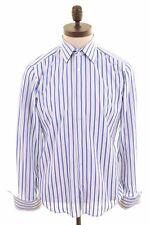 HUGO BOSS Mens Shirt Size 38 15 Medium Multi Striped Cotton Regular Fit  JY07