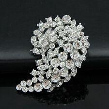 Ac074-B Rhinestone crystal clear Cz Wedding Party Women Brooch pin women lady
