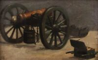 """perfect 36x24 oil painting handpainted on canvas """"cannon""""@N8720"""