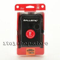 Ballistic Tough Jacket Maxx Motorola G4 Play Case w/Holster Belt Clip Black USED