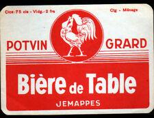 JEMAPPES Belgique / ETIQUETTE Ancienne BIERE / BIERE de TABLE / POTVIN-GRARD