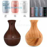 LED Night Light Aroma Essential Oil Diffuser Electric  Air Humidifier US