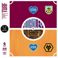 Burnley v Wolves Premier League Programme July 2020 Free Fast UK Delivery.