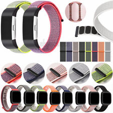 Nylon Woven Sport Loop Bracelet Replacement Watch Band Strap For Fitbit Charge 2