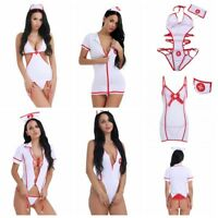 Women Ladies Nurse Cosplay Uniform Costume Outfit Sexy Fancy Dress Roleplay