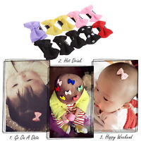 10 PCS Baby Girl's Mixed Colors Ribbon Hair Bow Mini Latch Clips Hair Clips Safe