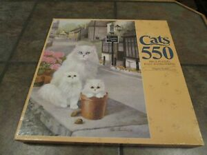 ELEGENT BEAUTY ~ 550 PC. MB PUZZLE #4076-8, CATS, NEW, SEALED