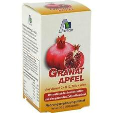 GRANATAPFEL 500 mg plus Vit.C + B12 + Zink + Selen 60St Kapseln PZN 9537871