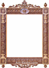 "32"" Kiot 3D Art Orthodox Wood Carved Icon large frame"
