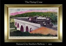 MAGNET TRAIN Post Card Photo Magnet The FLYING CROW 1925 Kansas City Southern