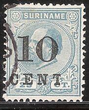 Suriname Nummer  32F     Gebruikt.