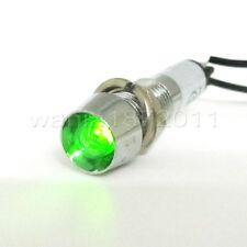 5 × Green LED 8mm DC24V Panel Indicator Power Signal Light Metal Shell XD8-1