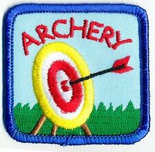 Boy Girl cub ARCHERY YELLOW Bow Arrow Fun Patches Crests Badges GUIDES SCOUT