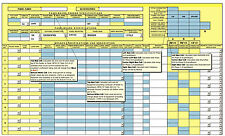 1-P 3-P WINDOWS EXCEL CIRCUIT BREAKER PANEL SPREADSHEET TO NFPA-70 168-POLES CAD
