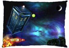 New Dr. Doctor Who Flying Tardis - David Tennant Standard Size Pillow Case