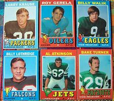 1971 Topps Football Card Lot! 22 Different Cards! VG! BV $28
