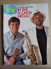 TV Sorrisi e Canzoni n°26 1988 Dalla & Morandi Corrado + figurine  [G590]