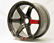 8 PICS Volk Racing Wheel JDM TE37SL Drift Car Decal Sticker (Red)