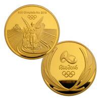 Brazil Rio 2016 Olympic Winner Gold Medal Commemorative Coin Souvenir Token