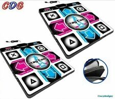 Two of  Deluxe 1 inch Foam DDR Dance Mats Pad for Playstation PS 1, PS 2 V4