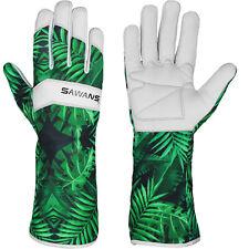 More details for leather gardening gloves ladies men thorn proof garden work long short gloves uk