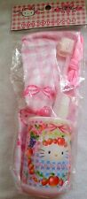 Hello Kitty Travel Toothbrush Set Gift Cup Pink Bag Holder Favor Sanrio 4PC NEW