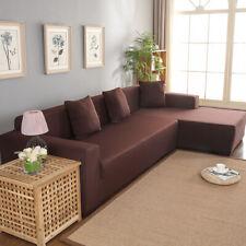 Housse de canapé d'angle 3 + 2 places en forme de L Housse de protection (café)